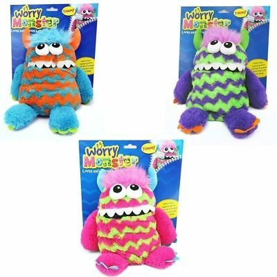 "12"" (30cm) WORRY MONSTER SOFT TOY - WORRY EATER - WRITE DOWN WORRIES & FEED HIM"