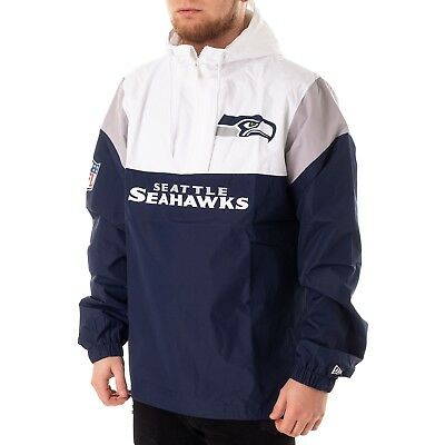 NEW ERA SEATTLE Seahawks Coupe Vent Veste Homme Blanc Bleu