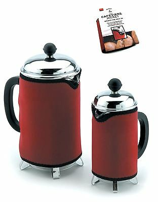CKS Zeal Neoprene Cafetiere Insulating Warmer Jacket in Red, 8 or 12 Cup