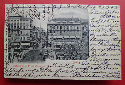 July 23,1902 postcard from Victoria Cafe, Friedrichstrasse, Berlin, Germany