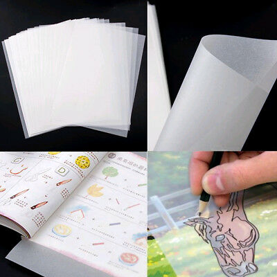 100pc Translucent Tracing Paper Craft Copying Calligraphy Artist Drawing Sheet
