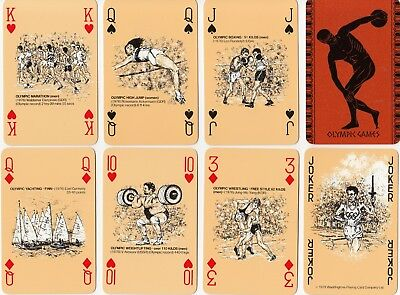 "JOKER *GROßBRITANNIEN Romméspiel ""Commemorative Olympic Playing Cards"" 1979"