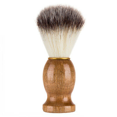 1pc Portable Shaving Brush Beard Shave Practical Tool with Wooden Handle for Men