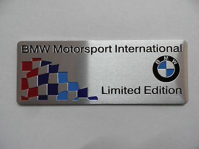 "BMW Motorsport, ""Limited Edition"",, M Power Performance Alu 3D Aufkleber Sticker"