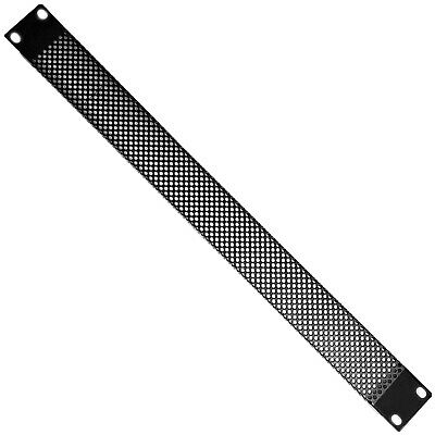 """19"""" 1U Vented Mesh Blanking Rack Patch Panel– Equipment Module Cover Plate Mount"""