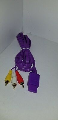NEW 10 FT Pro Series Gold Plated Purple AV Audio Video Cable for Nintendo 64 N64