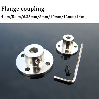 4/5/6.35/8/10/12/14mm Rigid Flange Coupling Motor Guide Shaft CouplerConnector