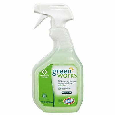 Green Works Natural All-Purpose Cleaner 32 oz,12 Spray Bottles (New Damaged Box)