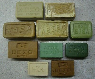 Greece extremely rare collection lot 10 antique & vintage olive oil soap bars #3