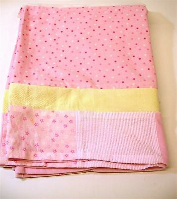 "Lambs & Ivy Standard Crib Skirt ~ Pink & Yellow ~ 15"" Drop"