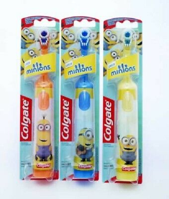 Colgate Minions Battery Powered Toothbrush Kids Electric Soft