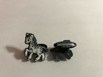 Zebra Shoe-Doodle goes in holes of Rubber Shoes or Crocs Shoe Charm PMI3010
