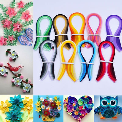 120 Stripes Origami DIY Quilling Strips Paper Art Craft Solid Color  3mm Width