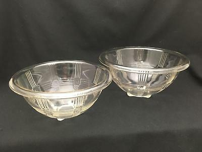 Lot of 2 Vintage Criss Cross Nesting Mixing Bowls