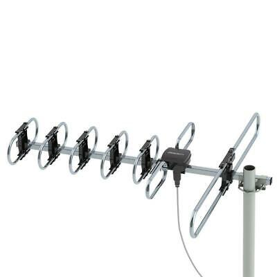 150 Mile Indoor Outdoor TV Antenna Digital Amplified HDTV 1080P High Gain