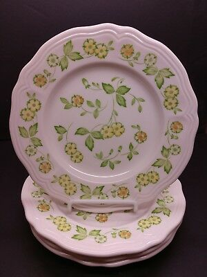 Sears Ironstone Salad Plates Petite Flora, set of 4