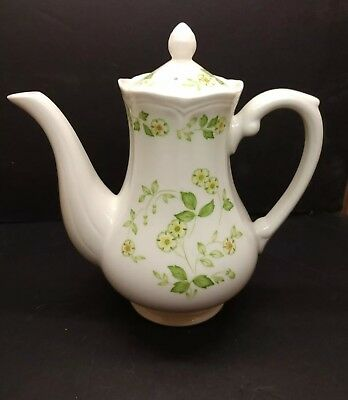 Sears Ironstone Coffee Pot Petite Flora