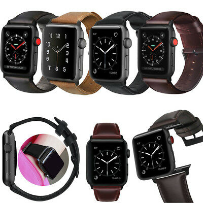 Genuine Leather Strap Bands for Apple Watch Series 4 3 2  1 38mm 40mm 42mm 44mm