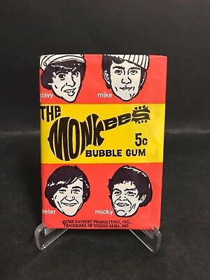 Scanlens Full Wax Pack The Monkees From 1966