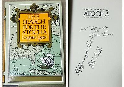 The Search For The Atocha Signed Autographed by Mel Fisher,  HC First Edition