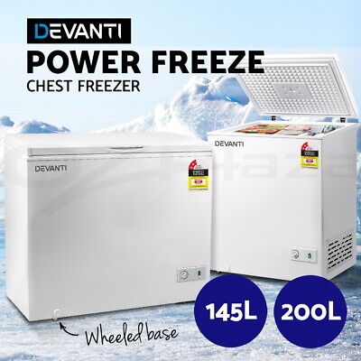 Devanti 145L/200L Chest Freezer Deep Cool Quick Freezing Commercial Restaurant