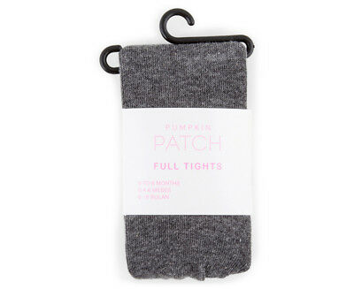 Cotton Mix Tights - Charcoal