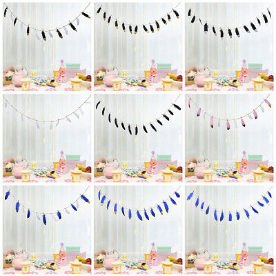 Feather Banner Buntings for Birthday Baby Shower Party Nursery Wedding Garland