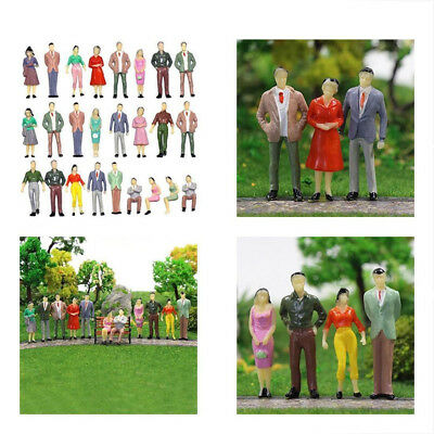 100 Pcs 1:150 Scale Painted People Figures Model Set For Sand Table Train Layout