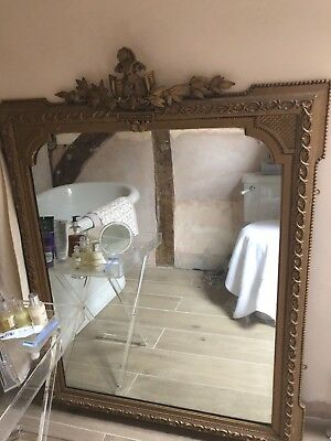 French late 19thc Louis style gilt mirror