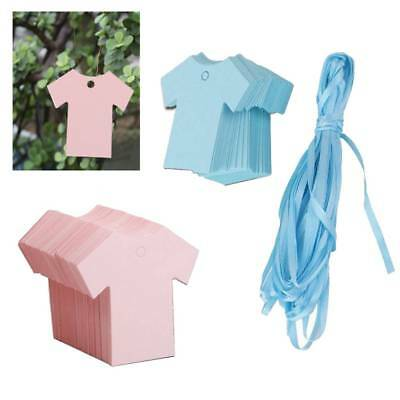 100Pcs Baby Shower Party Favor Paper Cloth Shape Price Tags Hand Made Gift Tags