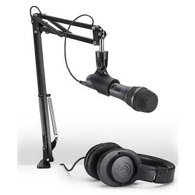 Audio-Technica AT2005USB Microphone Pack with ATH-M20x, Boom  Mini-USB Cable