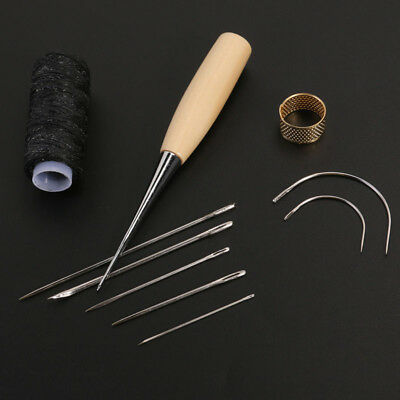 Sewing Shoes Repair Tools Needle Stitching Thread Hand Awl Leather Craft Kit Hot