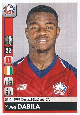 169 YVES BISSOUMA MALI LILLE LOSC AS Real Bamako STICKER PANINI FOOT 2018