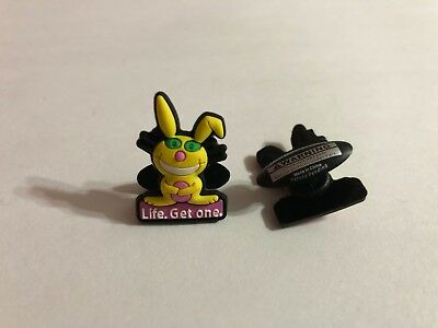 Get 2 Same Shoe Charms - Yellow Happy Bunny Shoe-Doodle LIFE. GET ONE. HAP1006