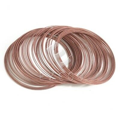 100 Loops Steel Memory Wire DIY Cuff Bangle Bracelet 0.6x60mm Antique Copper