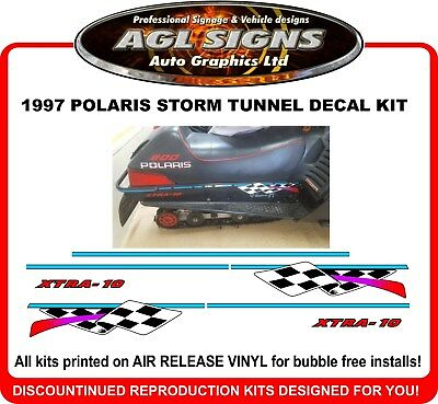 1997 POLARIS Indy Storm Reproduction Tunnel Decal Kit    graphic