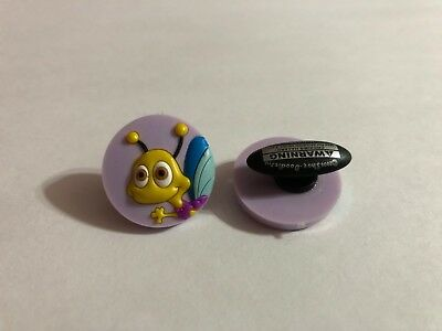 Get 2 Same Charms - Yellow Bug in Circle Shoe-Doodle Shoe Charm Crocs CRT011