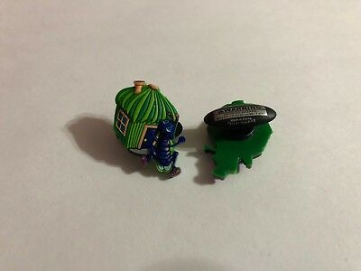 Get 2 Same Charms - CRITTER Bug with Grass Home Shoe-Doodle Shoe Charm CRT026