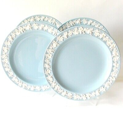 Four Wedgwood Cream Lavender Queens Ware Dinner Plates English Wedgwood  Nice!