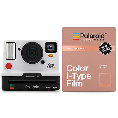 Polaroid Originals 9008 OneStep 2 VF Instant Camera (White) and Rose Gold Film