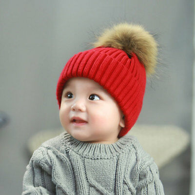 Adult Baby Beanie Hat Winter Toddler Warm Knitted Hat Skullies Solid Cap