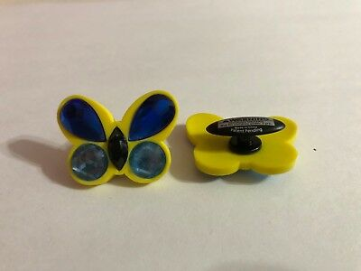 Large Yellow & Blue Butterfly Shoe-Doodle Butterfly Shoe Charm for Crocs PSC567