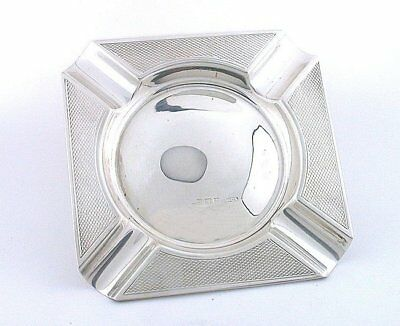 3 1/4 x 3 1/4 INCH 100 YEAR OLD EDWARDIAN SQUARE STERLING SILVER ASHTRAY AS58