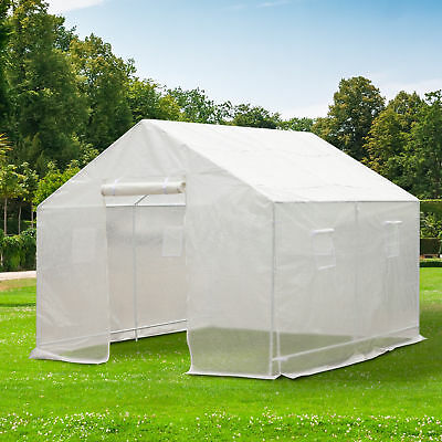 Outdoor 10'x10' Green House Portable Walk-In Greenhouse Plant Gardening PE Cover