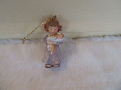 Berta Hummel Christmas Ornament LULLABY FOR DOLLY 1999 Girl with Doll