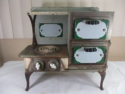 Antique Electric Metal & Porcelain Salesman Sample Stove with Oven  EMPIRE - ??