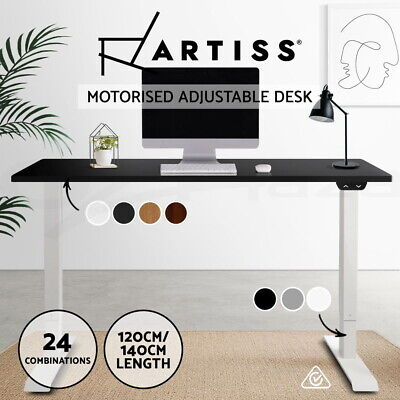 Artiss Roskos I Motorised Height Adjustable Standing Desk Sit Stand Table Office
