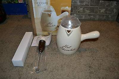 Bed Bath And Beyond Stoneware 35 Oz Hot Chocolate Set Never Been