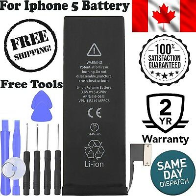 Brand New Replacement Battery Compatible For iPhone 5 1440 mAh With Tools Kit