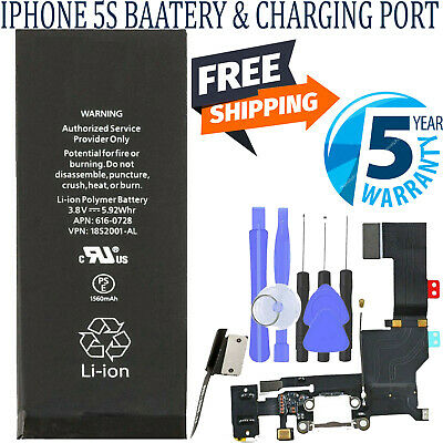 Brand New Replacement Battery Compatible for iphone 5S/5C 1560mAh KIT